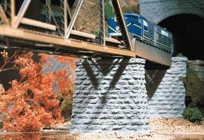 Chooch Enterprises HO Scale Cut Stone Bridge Pier, Rectangular