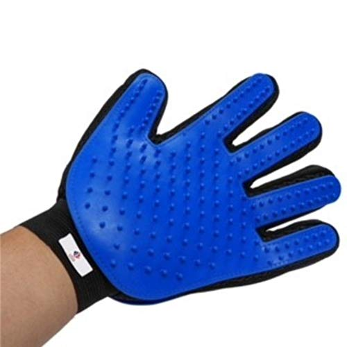 I Plus Inc. New Improved 2 in 1 Pet Grooming Glove Hair Removal Deshedding, Massage and Bathing Brush Long Short Fur for Dogs, Cats, Horses