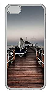 Shell Case for iphone 5C with Wooden Ship DIY Fashion PC Transparent Hard Skin Case for iphone 5C