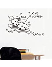DIY Coffee Wall Stickers Creative Fashion Decals Removable Home Decoration