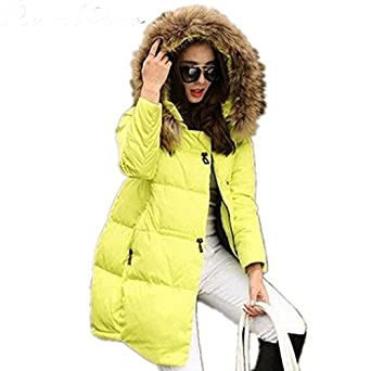 H.coosy Pretty NEW Winter Jacket Women Cotton Padded Winter Casual White Coat Women Parka
