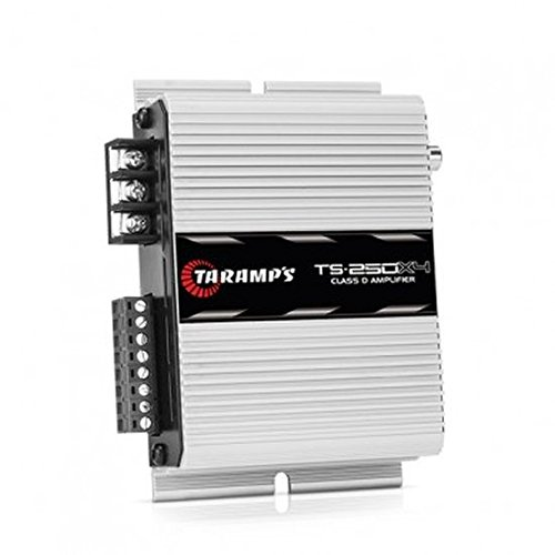 Taramps TS-250.4D 250 Watts-RMS Compact Car Amplifier Full Range 4-Channels Class-D 2-ohm Stable -