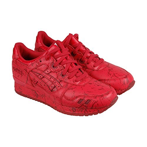 Asics Gel-Lyte III Marble Pack Mens Red Leather Lace Up Sneakers Shoes 9.5
