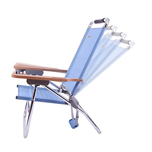 Terrific Wejoy 4 Position Beach Chair Folding Beach Lounge Cooler Home Interior And Landscaping Ferensignezvosmurscom