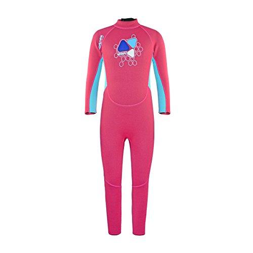 Neoprene Wetsuits for Kids Boys Girls Child One Piece Swimsuit UV Protection-Brand Layatone (Pink, 9-10 years - Brand Clothing Uv