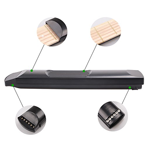 Large Product Image of Pocket Guitar, 6 Fret Black Portable Guitar Practice Tool Gadgets For Beginner Chord Trainer, Chord Fingering Pratice Tool