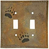 Big Sky Carvers 30170217 Bear Track Double Switch Plate offers