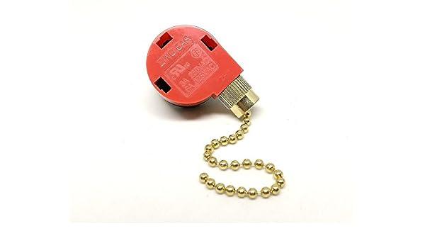 Zing Ear Ventilador de techo Tire cadena 3 Control de velocidad ...