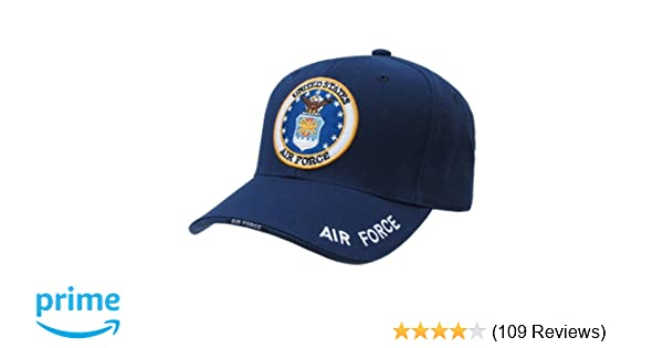 423b3154 Amazon.com: United States US Air Force official seal design baseball cap:  Sports & Outdoors