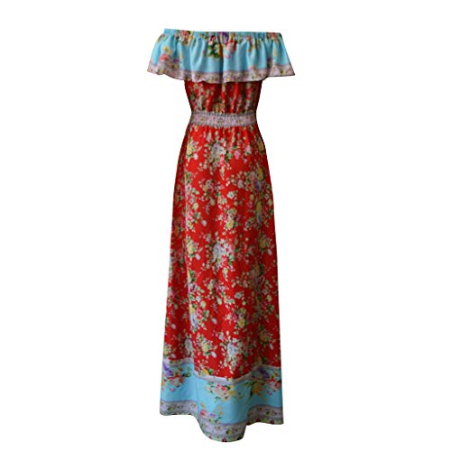 Women Dresses For Special Occasions Sexy Cocktail,Women's Summer Bohemian Printed Waist V-Collar Chiffon Beach Long Dresses by SUNSEE WOMEN'S CLOTHES PROMOTION (Image #5)