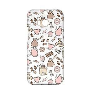 Bakery HTC One M8 3D wrap around Case - Pink Brown