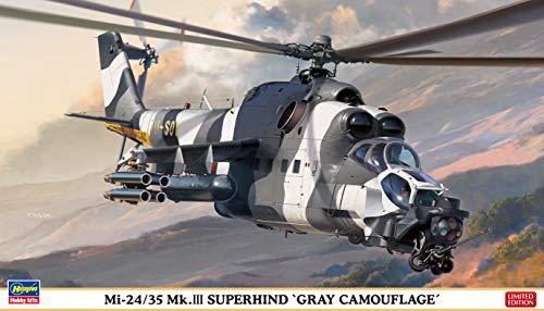 1/72 Mi-24/35 Mk.III Super Hind Gray Camouflage Plastic Model