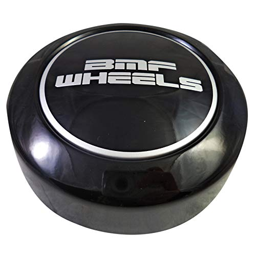 (BMF Wheels Center Caps Gloss Black Shorty- Fits All 8 Lug (1 Cap) BMF Logo)