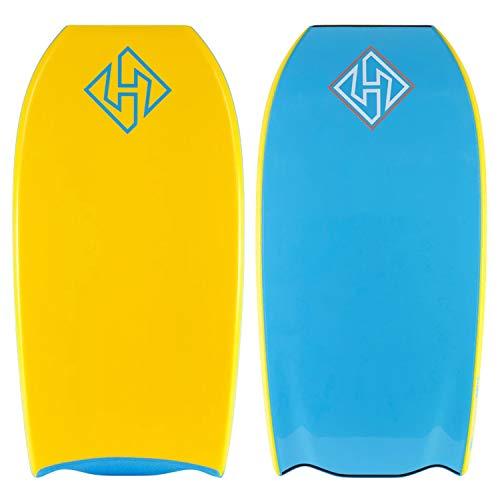 Hubboards Dubb PE Deluxe Dubb Tail 43 Bodyboard - Tangerine/Tangerine/Aqua