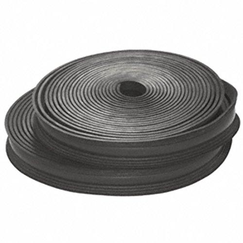 V CRL Black Flexible Rubber LR25 Series Cap Rail Insert for 21.52 mm Laminated Glass- 100 ft (30.5 m) ()