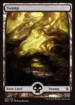 Battle For Zendikar Swamp 263/274 FOIL Magic/mtg Full Art Land