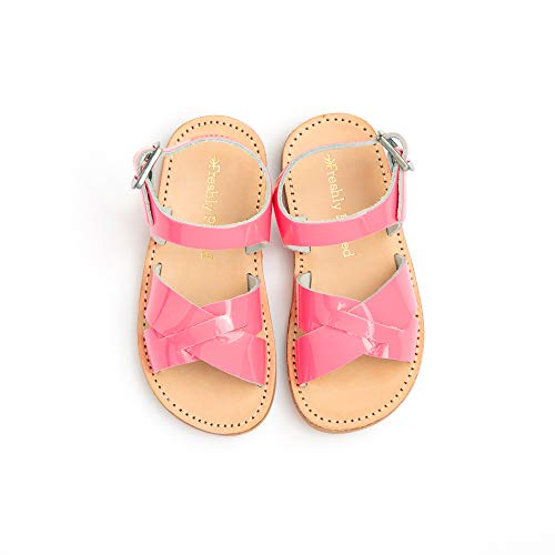Freshly Picked - Saybrook Toddler Girl Leather Sandals - Size 4 Hot Pink Patent