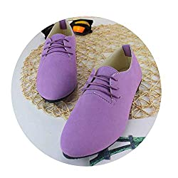 Wodcht Nice New Candy Color Women Shoes Flats Shoes Woman Lace Up Spring Autumn Ladies Shoes Zapatos Lavender 5 5