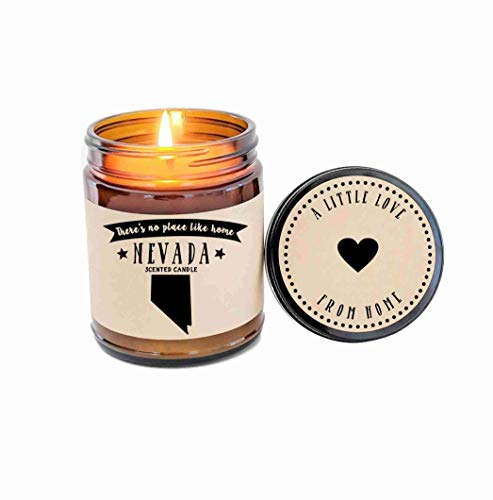 (Nevada Scented Candle State Candle Homesick Gift No Place Like Home Thinking of You Holiday Gift )