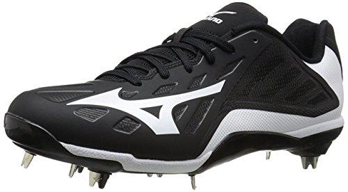 Metal Soccer Cleats - Mizuno Men's Heist IQ Baseball Cleat, Black/White, 12 M US