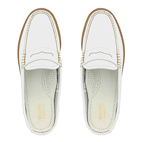 Leather Penny White Weejuns Slide Mule Y8qCCxw