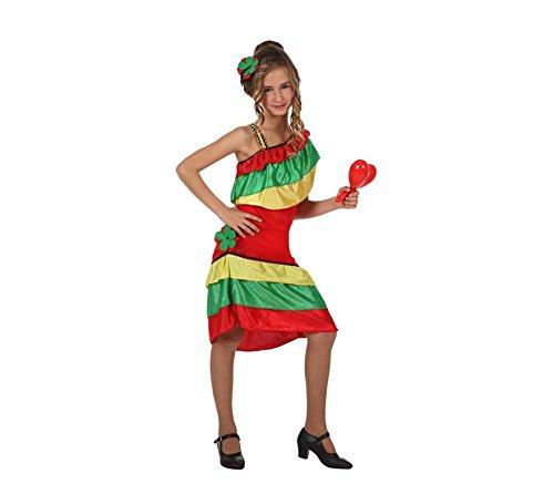 Disfraz de Rumbera con volantes para niñas: Amazon.es: Juguetes y ...