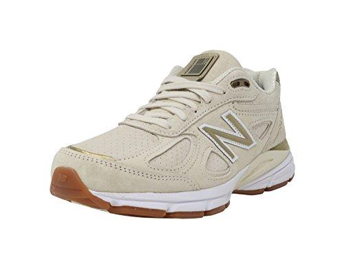 New Balance Women's 990v4 Running Shoe, Angora, 10.5 B US ()