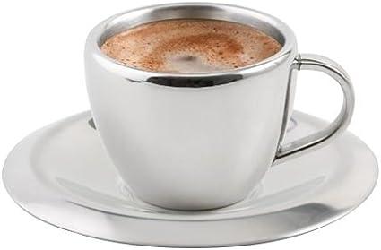 Set Espressotassen mit Unterteller Vela 80ml Mokkatasse 12tlg