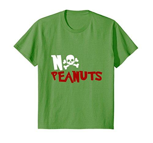 Kids NO PEANUTS T SHIRT Nut Allergy Peanut Allergy Epinephrine 4 ()