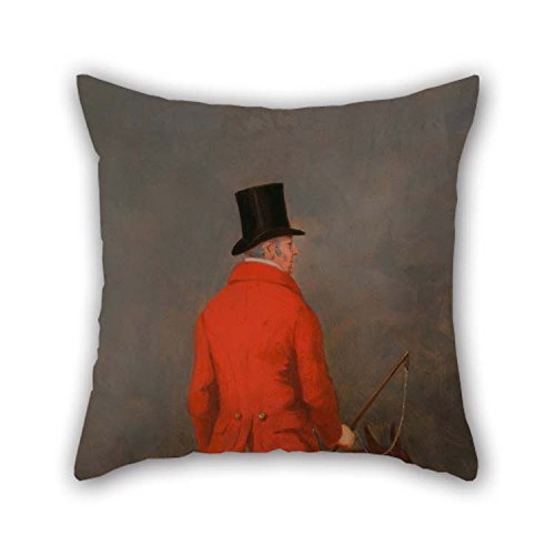 Pillow Shams Of Oil Painting Henry Calvert - Portrait Of Thomas Cholmondeley, 1st Lord Delamere, On His Hunter (study For 'The Cheshire Hunt At 20 X 20 Inches / 50 By 50 Cm Best Fit For Bar Chris -