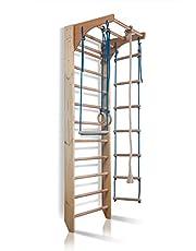 Barras de pared con barra de altura ajustable Kombi-2-240, escalera sueca, gimnasia de los niños en casa, complejo deportivo de gimnasia