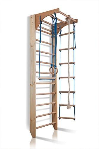 Barras de pared con barra de altura ajustable Kombi-2-240, escalera sueca, gimnasia de los niños en casa, complejo deportivo de gimnasia: Amazon.es: Bebé