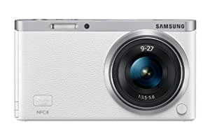 """Samsung NX Mini 20.5MP CMOS Smart WiFi & NFC Mirrorless Digital Camera with 9-27mm Lens and 3"""" Flip Up LCD Touch Screen (White)"""