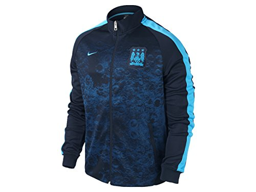 Nike 2015/16 Mens Manchester City FC Authentic N98 Track Jacket [DARK OBSIDIAN] (M)