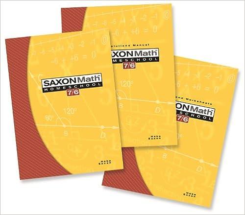 Saxon Math 76 Homeschool Setbox Saxon Publishers 9781591413332