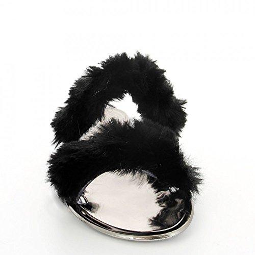 Fourrure Shoes Noir Ideal à Genna Pieds Nu p0In1nFW