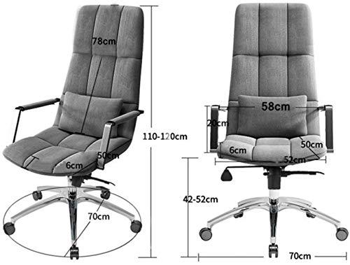 Kontorsstol, hög rygg verkställande svängbar stol dator skrivbord uppgift stol hem kontor möte rum knästol