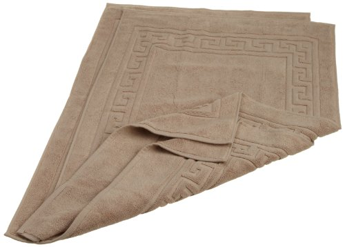 Superior Hotel & Spa Quality Bath Mat Set of 2, Made of 100% Premium Long-Staple Combed Cotton, Durable and Washable Bathroom Mat 2-Pack - Taupe, 22