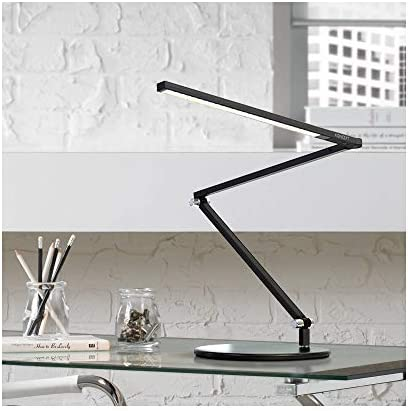 Koncept AR3100-WD-MBK-DSK Z-Bar – Mini LED Desk Lamp with Base, Warm Light Metallic Black Finish