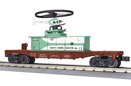 Mth Flat Car (MTH 3079456 O New York Central Flat Car with Operating Helicopter)