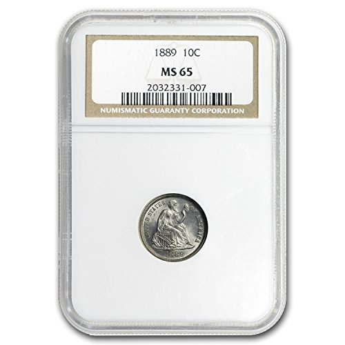 1889 Liberty Seated Dime MS-65 NGC Dime MS-65 (1889 Liberty Seated Dime)
