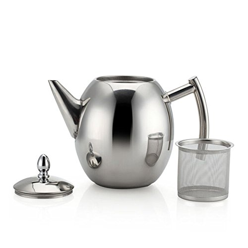 MyLifeUNIT Stainless Steel Teapot with Infuser Tea Filter, T