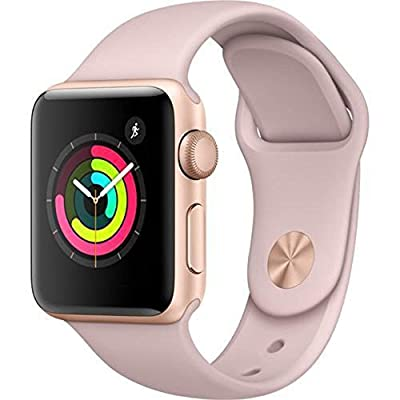 Apple Watch Series 3 38mm Space Gray with Gray Sports Band (Certified Refurbished)