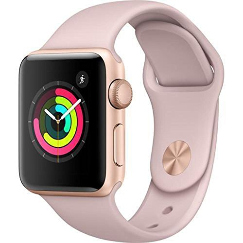 Apple Watch Series 3 - GPS - Gold Aluminum Case with Pink Sand Sport Band - 38mm - MQKW2LL/A (Certified Refurbished) by Apple (Image #1)