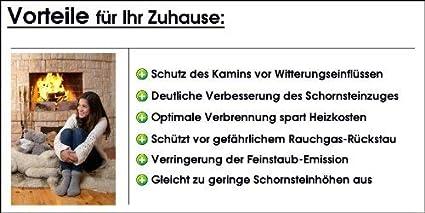 Nischenmarkt Kaminaufsatz//Schornsteinaufsatz//Kaminabdeckung Kaminkraft Edelstahl Silikon DN 250