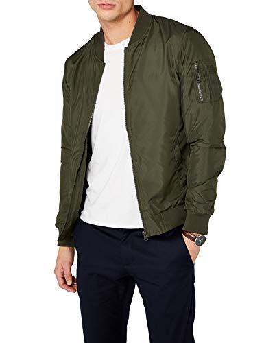 (Urban Classics - Light Bomber Jacket Dark Olive - S)