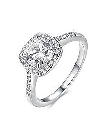 Ring for Women Cubic Zirconia CZ Diamond Eternity Engagement Wedding Band Gift Rings