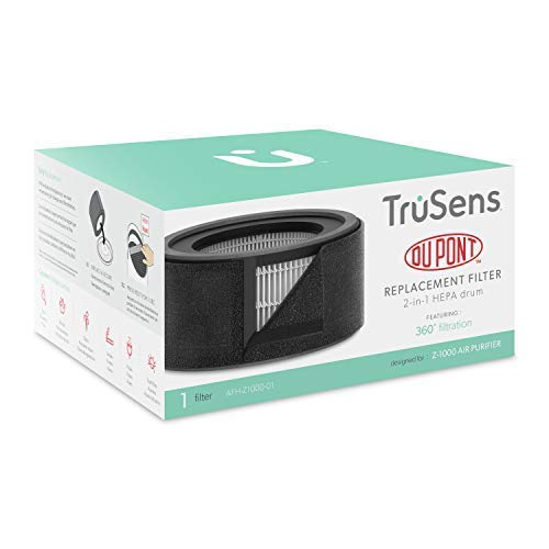 TruSens Air Purifier Replacement Filter Small HEPA Drum Filter for Use Z1000 Air Purifier Small