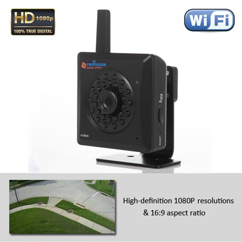 Trivision HD 1080P Security Camera Wifi POE, Super Low Light Performance, Long Range Motion Sensor, Alarm Recording with SD Card, FTP, Google Drive, Dropbox