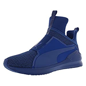 PUMA Women's Fierce Knit Cross-Trainer Shoe, True Blue, 8 M US